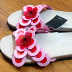 ZARA Trafaluc Floral Sandals US 6.5 37 Pink Red